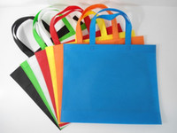 Wholesale Yellow Reusable Shopping Bag - Eco-Friendly Foldable Reusable Fabric Grocery Package Tote Shopping Bags Storage  Free mail non-woven bag