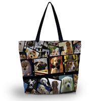 Wholesale Dog Gym - Fasion Dogs Polyester Shopping Tote Bag Gym Kit bag Duffel Cross Bag Handbag Shoulder Travel Beach School Bag