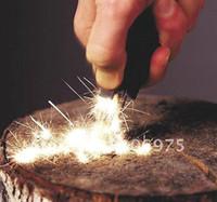 Wholesale Handed Fire Starter - EMERGENCY MULTI PURPOSE TOOL KIT SINGLE HAND FIRE STARTER STEEL FLINT+RULER+WHISTLE