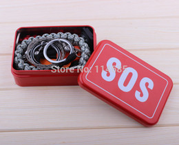 Wholesale China Outdoor Equipment - Outdoor equipment with paracord bracele emergency survival box self-help box SOS Camping Hiking saw fire tools china