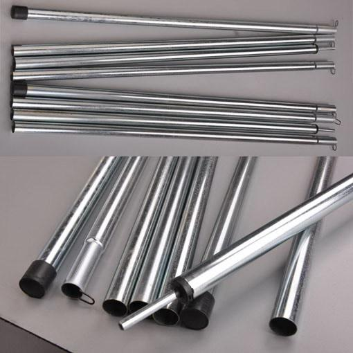 See larger image & 2*2m Tent Pole4 Sections Pole Steel Rod For Tent Awning Tarp ...