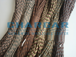 Wholesale Camouflage Paracord - (Camouflage Colors#1~12) 550 Paracord Mil Spec Type III 7 Strand Rope 550lbs Parachute Cord Lanyard 100FT for Survival Bracelets