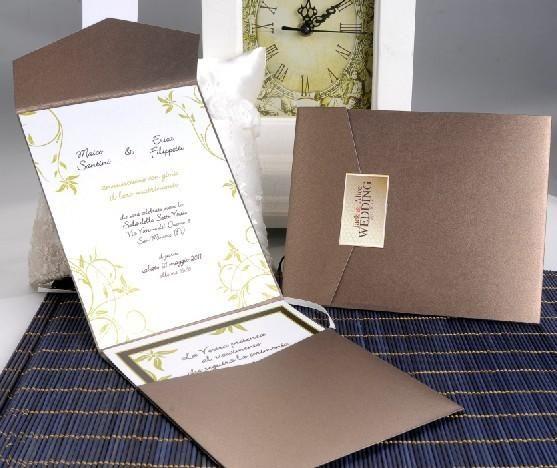 wedding card wedding invitation sj 03 brown color with rsvp card