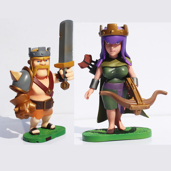 Acheter Gratuit Expédition Clash Of Clans Archer Reine Roi Barbare Action Pvc Figure Collection Toy Doll De 54 88 Du Bailishop Dhgate Com