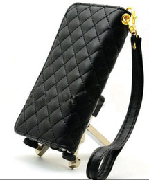 Wholesale Iphone 4s Fashion Wallet - Fashion iPhone 5 4 4S Luxury Clutch Bag Wallet Phone Card Case Cover Pouch Purse