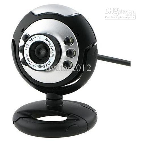 6 Led Pc Webcam With Mic Win7 64bits Pc Camera Computer Camera ...