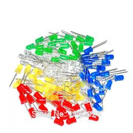 kit led blanco Rebajas 5 colores x100pcs = 500pcs / lot Componentes de LED Nuevo 5 mm Redondo Rojo / Verde / Azul / Amarillo / Blanco Kit de diodo de luz LED de color Envío gratuito