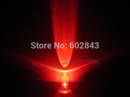 Wholesale Led Red Mcd - 1000PCS 5mm RED WATER CLEAR ULTRA BRIGHT LAMP LED LEDS MOUSE TRAFFIC LIGHTS 10000-12000 MCD