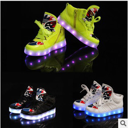 Wholesale Kid Leather Price - Cheap price luminous children shoes boy girls sneaker for outside baby trainer kid tenis with beauty shoe