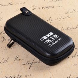 Wholesale Electronic Cigarettes Ecab - Big X6 Case X6 KTS Zipper Case E Cigarette leather case bag for X6 kts K100 K201 K200 ecab v2 electronic cigarette starter kit