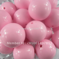 Wholesale Gumball Beads 24mm - Wholesale-Chunky Gumball Beads 24mm Acrylic solid Beads Pink A04