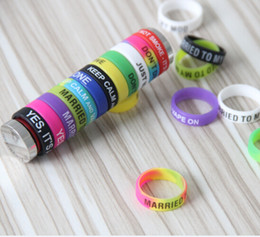 Wholesale Silicon Finger Rings - Wholesale-New Design Silicone Finger Ring Anti-slip Silicon Vape Band Covering Rubber Ring For Mechanical Mod E Cigarette Accessories