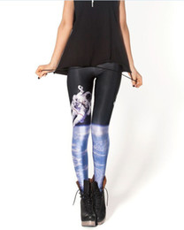 Wholesale Shiny Leggings For Sale - HOT! SEXY! Women pants supernova sale for women New SPACEMAN LEGGINGS Shiny BLACK Milk Leggings Digital Printing Leggings -K166