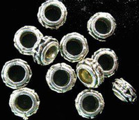 Wholesale 4mm metal beads - 450pcs Tibetan silver Alloy Metal 4mm holes spacer beads A928