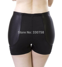 Wholesale sexy panties padding online – Women s Fixed Padded Fake Hip Panties Medium Waist Boyshorts Traceless Anti Emptied Knickers Underpants Lingerie Only Plump Hip