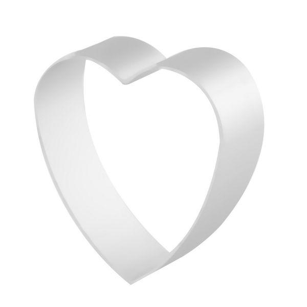 Wholesale-Aluminum Biscuit Mould Bakeware Heart Shape Fondant Cake Mold DIY Sugarcraft 3D Pastry Cookie Cutters