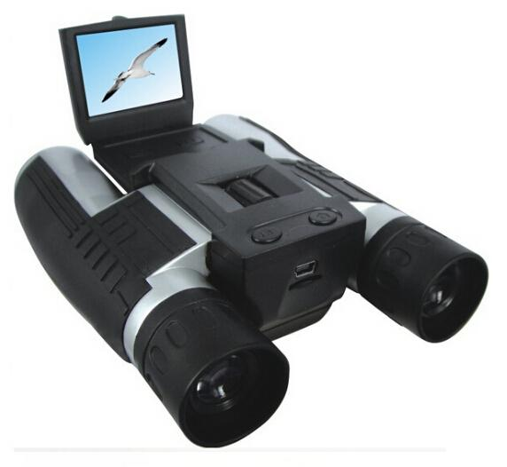 "5.0 Mega Pixels 2.0"" TFT LCD Digital Camera with Telescope and 12x digital zoom Binocular digital camera"