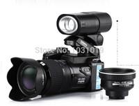 kullanılan kamera toptan satış-PROTAX D3200 lityum piller içeren 16million-piksel dijital kamera 21X optik zoom artı LED far dijital fotoğraf makinesi