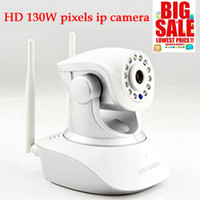 Wholesale Security Camera Sd Memory - selling 130W pixel security camera 720P IP camera Wifi With TF Micro SD Memory Card Slot Free Iphone Android App Software