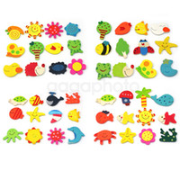 Wholesale Novelty Wooden Animal Magnets - 24Pcs Fridge Wooden Animals Magnetic Magnet Sticker Novelty Decorative Fun Cute