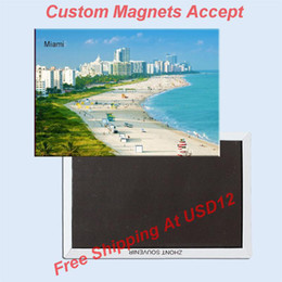 Usa Travel Magnets Gifts Home Decor Stickers Florida Miami Beach Souvenir Fridge Magnet 5676