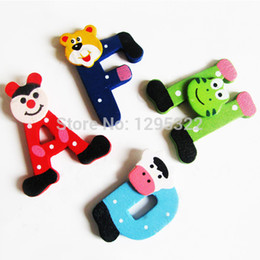 Wholesale Letters Wooden Fridge - Educational Clown Letters Alphabet Wooden Fridge Magnet Sticker Fridge Magnet Refrigerator Magnet Free shipping 26pcs set oMjlM
