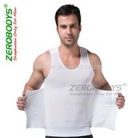 Wholesale Mens Zerobodys - zerobodys mens corset beam waist slimming body shaper girdle Shapewear Fat burning bodysuit fitness vest abdomen XL Black white