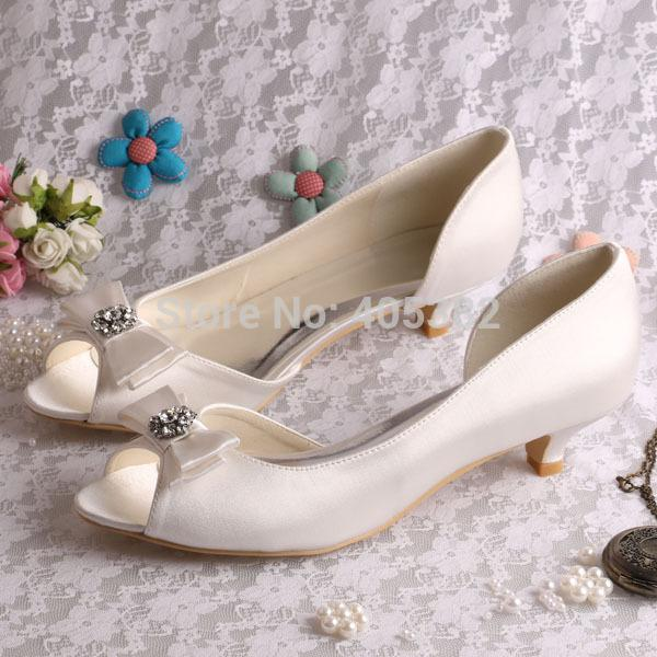 More ColorsCustom Heel Fashion Low Heel Dress Bridal Shoes For Wedding Ivory  Satin Size 7 Mens Shoes Loafers From Eventswedding, $60.84| Dhgate.Com