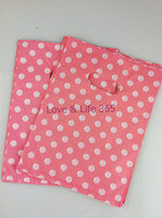 Wholesale Plastic Shopping Bags For Clothes - Wholesale 25*35cm Plastic Shopping Clothes Packing Bags, Pink Round Dot Design Shopping Gift Bags 100pcs lot For Free Shipping