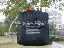 Wholesale Gallon Solar Camp Shower Bag - 40 L 10 Gallons PVC UV-resistant Solar shower water bag For Camping