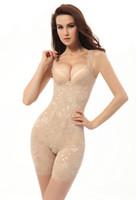 Wholesale Green Print Corset - Women Slim Slimming Body Suit Girdle Corset Full Shaper Seamless Underwear Hot Sale Spring