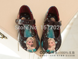 Wholesale Cheap Wedges Shoes Free Shipping - Wholesale-2015 NEW Zapatos Elsa Anime Cosplay Shoes Sweet Children's Shoes Girls sandalias Wedge Cheap Shoes Elsa Sandals Free shipping