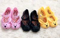 Wholesale Zapatos Flower Girl - Wholesale-2015 New Mini Melissa Summer Jelly Sandals Cute Cartoon Rrabbit Sandals For Girls Children Shoes Girls Zapatos Ninas Hot Sale