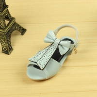 Wholesale Types Girl Shoes - Wholesale-The New Summer Girl Butterfly String Sandals Princess Beach Parent-child T Type Girls Shoes Girl Dress Shoes