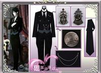 Wholesale Sebastian Anime - Black Butler Sebastian Michaelis Costumes Anime Cosplay Costume free shipping