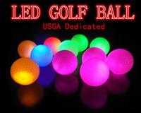 Wholesale Glow Golf Balls - USGA Dedicated 10pcs lot LED Golf Ball Constant Shining Luminous Glowing Golf Training Balls Practice golf ball
