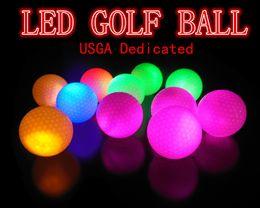 Wholesale Led Golf Balls - USGA Dedicated 10pcs lot LED Golf Ball Constant Shining Luminous Glowing Golf Training Balls Practice golf ball