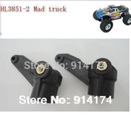 Wholesale Rc Mad Truck Parts - henglong 3851-2 1 10 RC Mad Truck spare parts No.70R.L Plastic Steering knuckle   plastic knuckle free shipping