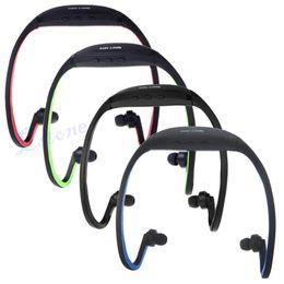 Wholesale Jogging Earphones Mp3 - Wireless Earphones Headphones Sports MP3 Music Player For Gym Running Jogging