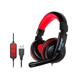 Wholesale Tablet Head Phones - Headphones Headset Earphone USB Wired Stereo Head Phone with Microphone for Game Computer Mobile Phones Tablet PC Headphone