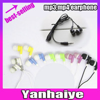 Wholesale Earphones Candy - 50pcs Free shipping candy in-ear 3.5MM Earphones Headphones For iPod MP3 MP4 32GB CD Player PSP