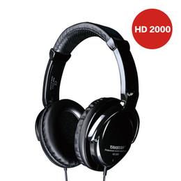 Wholesale Free Computer Music - TAKSTAR HD2000 headset music monitor's dj earphones Free Shipping Audio Mixing Recording Professional Monitor Headphones