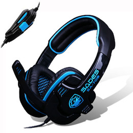 Wholesale Professional Gamer - High quality Cool computer headphone Sades Sa708 gaming headset earphones with microphone professional head set for PC gamer