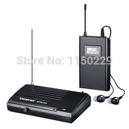 Free shipping Takstar WPM-200 UHF Wireless Monitor System Stereo In-Ear Wireless Headphones & Headset Transmitter&Receiver Set cheap ear wireless monitor system transmitter receiver от Поставщики приемник беспроводного передатчика