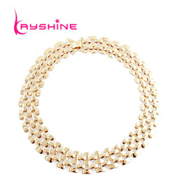 Wholesale Cuban Link Gold Chains Wholesale - Wholesale Jewelry Gold Chain for Men Ouro Necklace Cuban Link Chain Fashion Necklaces for Women 2015