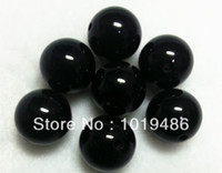 Wholesale Large Chunky Acrylic Beads - Free shipping! Black Large 20MM105pcs Big Chunky Gumball Bubblegum Acrylic Solid Beads,Colorful Chunky Beads for NecklaceJewelry