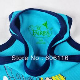Wholesale Tinker Clothing - 2015 Baby girls 2pcs set, kids Tinker Bell cartoon sport suits with a vest + shorts, Children clothes suit, 4sets lot-WYX-7J5769