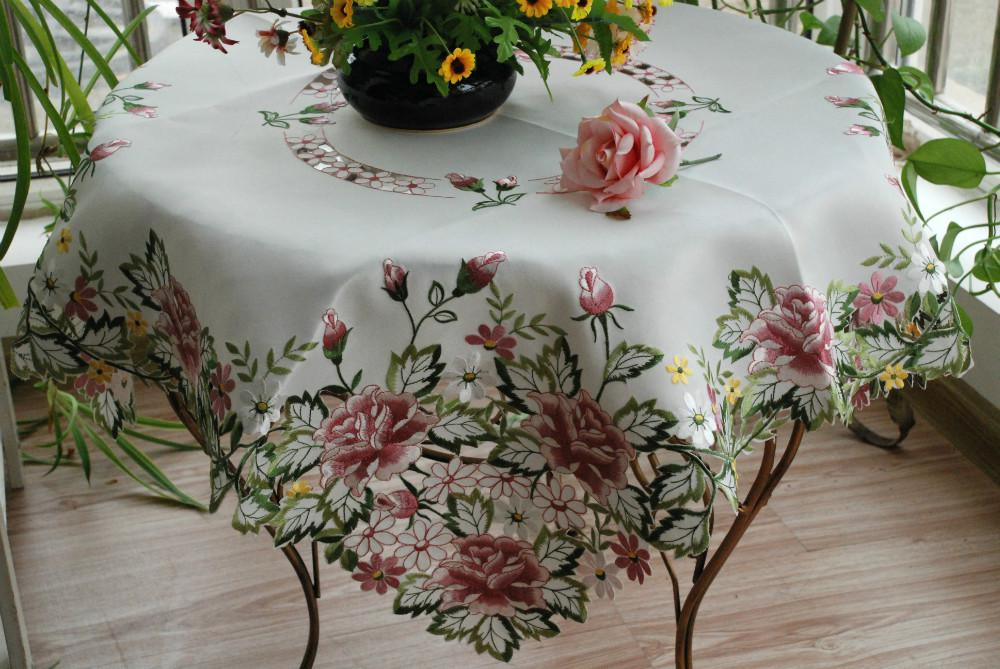 Embroidered Tablecloths Wedding Tablecloth Tablecloth Lu Embroidery Table  Cloth Runner Mats Fashion Fabric Rustic Dining Mat Buy Table Cloth Gray ...