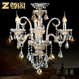 Wholesale Crystal Town - Special offer 3 Bulbs European based luxury Crystal Chandeliers for Bedroom Living Room towns & lighting E14 Z002 freeshipping