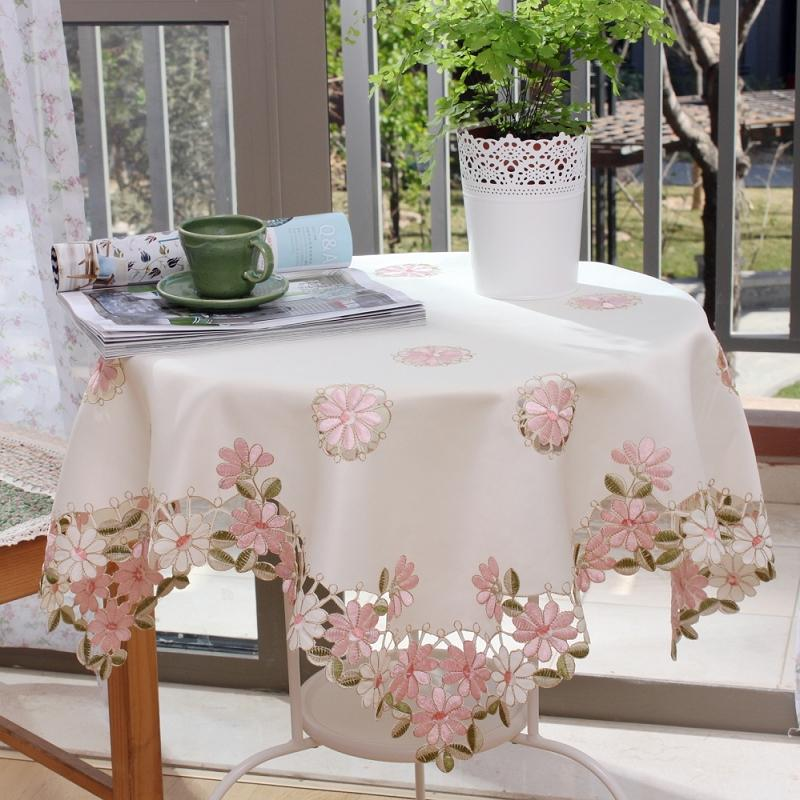 Charmant Su0026Amp;V Modern White Tablecloths Linen Table Cloth Embroidery Toalhas De  Mesa Christmas New Year Rectangular Needlework Covers. 120 Round Tablecloth  ...